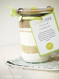 Schokokuchen-Backmischung im Glas / Elbcuisine