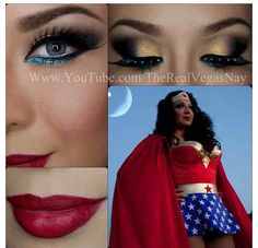 Wonder Woman themed makeup