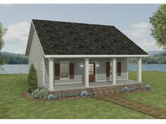 Country House Plan with 992 Square Feet and 2 Bedrooms from Dream Home Source | House Plan Code DHSW075844