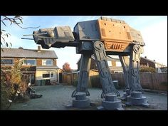 Man Builds Giant AT-AT In His Garden As A Star Wars Man Cave For His Kids