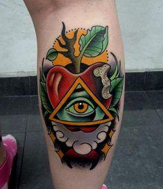 Jonathan Montalvo - conspiracy apple tattoo