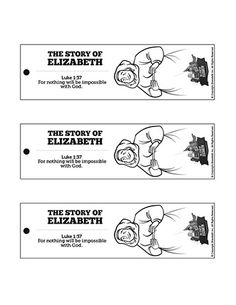 Luke 1 The Story of Elizabeth Bible Bookmarks: Help remind your kids study the story of Elizabeth and Zechariah at home with these The Story of Elizabeth Bible Bookmarks. Ready to print, color and cut out this Kids Bible activity is perfect for your upcoming Luke 1 Sunday School lesson. Bible Activities For Kids, Sunday School Activities, Bible For Kids, Sunday School Teacher, Sunday School Lessons, Lessons For Kids, Bible Bookmark, Bookmarks, Daniel And The Lions