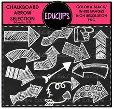 FREE ~ Chalkboard Arrow Clip Art Selection {Educlips Clipart} by Educlips Chalkboard Clipart, Chalkboard Art, Lps, Digital Paper Freebie, Digital Papers, Digital Scrapbooking, Homemade Chalkboard, Free Images For Blogs, Owl Clip Art