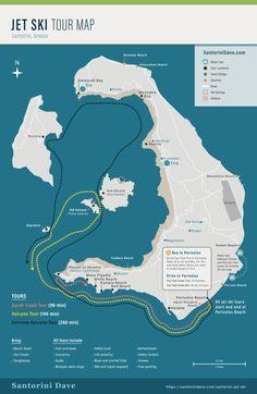 Santorini Jet Ski Tour – Updated for 2020 - Modern Santorini Map, Santorini Beaches, Mykonos, Vacation Destinations, Dream Vacations, Best Jet Ski, Greece Travel, Greece Trip, Greece Vacation