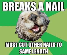 OCD otter   When I chew nails in a movie