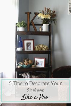 Need some help and ideas on decorating your shelves in your living room or…