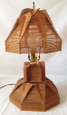 Diy Lamp Popsicle Sticks