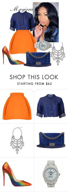 """""""Untitled #161"""" by mayiralove ❤ liked on Polyvore featuring DANNIJO, Chanel, Christian Louboutin and Rolex"""