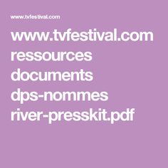 River presskit document (PDF)