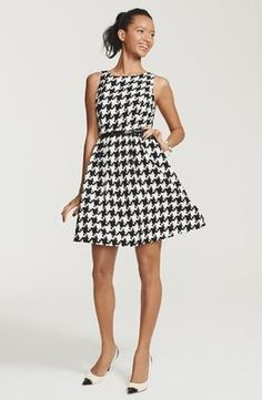 Jessica Simpson Dress & Accessories  available at #Nordstrom #houndstooth