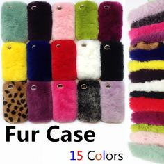 Real rex rabbit fur phone case for iphone 6 6s luxury fur case for iPhone 6s Plus 4/4s/5/5s/5SE/5c factory outlet