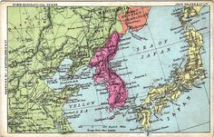 Map of Korea, A map of Korea with the surrounding countries, Present Day