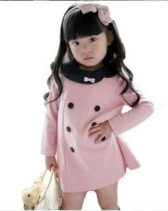 2013 Korea fashion baby girls dress cute pink blue color 2 - 8 years children's princess dress on sale kid's dress hot sale