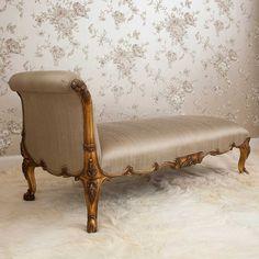 Versailles Gold Chaise Longue | Chaise Longue