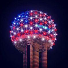 Patriotic Reunion Tower- Dallas, TX