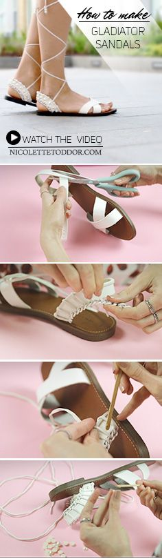 Diy ideas | Gladiator sandals How to make your own Gladiator sandals.
