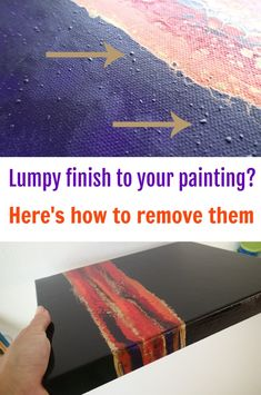 How to deal with lumps in your dried acryli painting. Video process for removing the lumps and bumps on a dried painting, for a glossy smooth finish. Flow Painting, Acrylic Painting Techniques, Pour Painting, Painting Lessons, Diy Painting, Beginner Painting, Art Techniques, Painting Recipe, Sand Painting