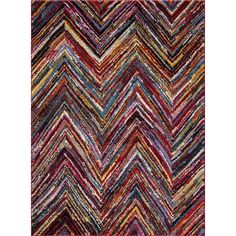 "Concord Dimensions Collection Flection Multicolor Polypropylene Rug (6'7 X 9'3) (Flection MultiI ( 6'7""X9'3"")), Grey"