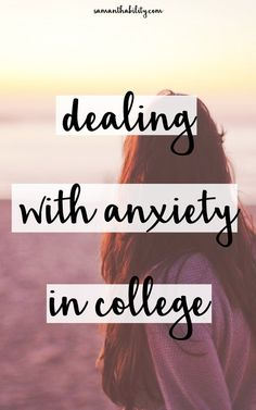 Dealing with anxiety in college! Anxiety is really hard, but in college it seems downright impossible. When things seem crazy and out of control, check out these helpful tips to ease anxiety in college. College Semester, College Years, College Life, Freshman Year, College Success, College Hacks, College Dorms, College Scholarships, Studio
