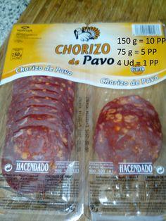 Chorizo de Pavo Mercadona - Foto de Eli Chorizo, Recetas Light, Sausage, Beef, Health, Tortillas, Food, Healthy Recipes, Sweet And Saltines