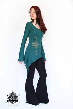 Bohemian lace top. Pixie top faery top elven por AbstractikaCrafts