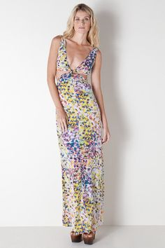 Dahlia Cut Out Maxi Dress in Print by Bec & Bridge