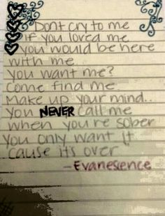 Call Me When You're Sober-Evanescence