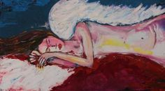 "Saatchi Art Artist Florin Coman; Painting, ""Angel Dream - large artwork"" #art"