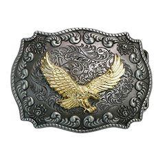 Landisun Handmade Golden Eagle Flying Belt Buckle Landisun