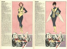 WASP by Jordan Gibson The Official Handbook to the Marvel Universe - REDUX Edition