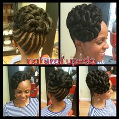 Natural up do with extensions - Best Hair Styles EVER Natural Hair Braids, Natural Hair Styles, Short Hair Styles, Curly Hair, Curly Mohawk, Natural Updo, Natural Beauty, African Braids Hairstyles, Twist Hairstyles