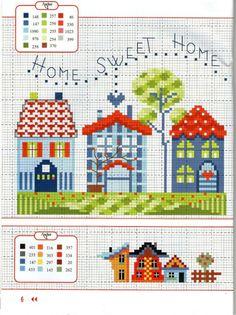 Risultati immagini per cross stitch home sweet home