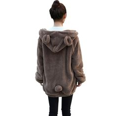 100%+brand+new. This+coat+is+featuring+cute+bear+ears+hood,+lovely+bear+tail+on+the+back,+and+zippered+design,+kawaii+and+warm! Color:+coffee Material:+flocking Season:+winter Size:+m,+l Packing+list:+1*coat