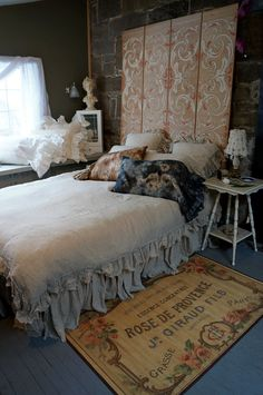 tattered and comfy....luv the rug:).....  by ReveBedding