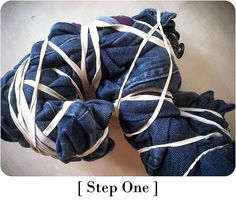 DIY Tie & dye denim /tie and dye jeans / DIY jean