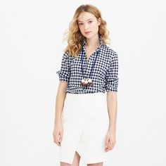 J.Crew - Boy shirt in crinkle gingham