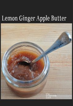 Amazing apple flavor with fresh ginger and citrus - a big hit of fall flavors! Lemon Ginger Apple Butter  | The Creekside Cook | #canning #preserves #apples #fall