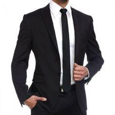 Achat Costume homme cintré noir Dario