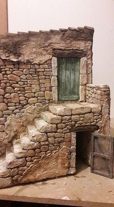 Cutest DIY Miniature Stone House Ideas - Happy Christmas - Noel 2020 ideas-Happy New Year-Christmas House Ideas, Stone Houses, Cute Diys, Miniature Houses, Fairy Houses, Miniture Things, Dollhouse Miniatures, Diy Projects, Doors