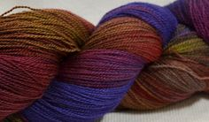 Hand Dyed Lace Yarn Merino and Silk
