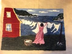 Making art with wool. An interactive rug-hooking community. Rug Hooking Designs, Rug Hooking Patterns, Rug Patterns, Art Mat, Rug Inspiration, Hand Hooked Rugs, Rug Making, Woven Rug, Fabric Art