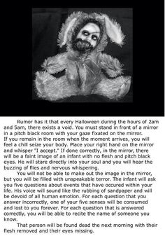 It's so creepy but I wanna try it Short Creepy Stories, Spooky Stories, Ghost Stories, Horror Stories, Paranormal Stories, Creepy History, Creepy Facts, Urban Legends, Creepypasta