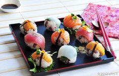 Mochi Rice and Adzuki Bean Sushi Balls