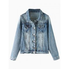 Blue Bleached Denim Jacket (6.455 ISK) ❤ liked on Polyvore featuring outerwear, jackets, persunmall, persun, bleached denim jacket, leather jacket, columbus blue jackets and blue jackets
