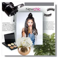 """""""NewChic !"""" by dianagrigoryan ❤ liked on Polyvore featuring beauty and Nearly Natural"""