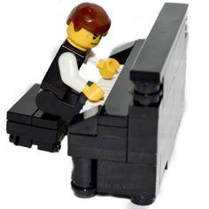 LEGO-Furniture-Black-Piano-Bench-Set-w-Parts-Instructions-custom-house