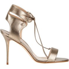 Manolo Blahnik Laramod Ankle-Strap Sandals at Barneys.com