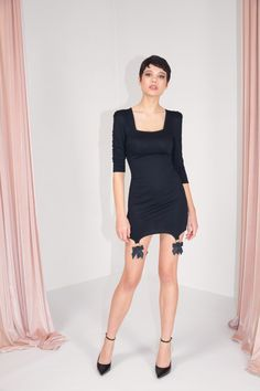 FW MURMUR Short Black Dress