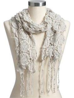 Bufanda de flores tejidas...
