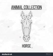 Bildresultat för geometric horse head